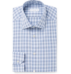 Etro Slim-Fit Plaid Cotton Shirt