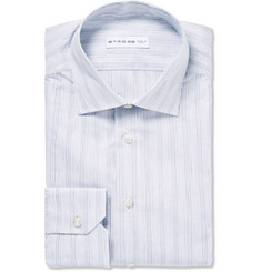 Etro Slim-Fit Striped Cotton And Linen-Blend Shirt