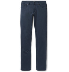 Etro - Slim-Fit Stretch-Cotton Gabardine Trousers