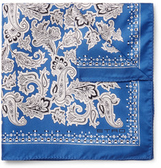 Etro - Printed Silk-Twill Pocket Square