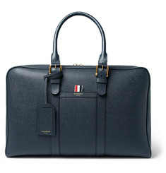 Thom Browne Pebble-Grain Leather Holdall