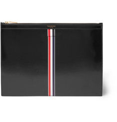 Thom Browne Striped Patent Leather Pouch