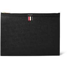 Thom Browne Pebble-Grain Leather Pouch