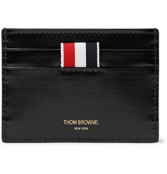 Thom Browne - Striped Patent-Leather Cardholder