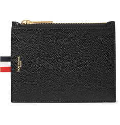 Thom Browne Pebble-Grain Leather Coin Wallet