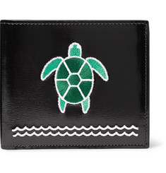 Thom Browne Turtle-Appliquéd Polished-Leather Billfold Wallet