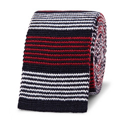 Thom Browne 5cm Striped Knitted Wool Tie