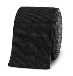 Thom Browne - 5cm Striped Knitted Wool Tie