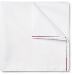 Thom Browne Cotton and Silk-Blend Pocket Square