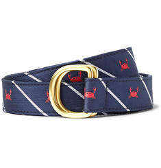 Thom Browne - 3cm Crab-Patterned Silk-Jacquard Belt