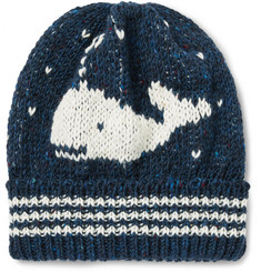 Thom Browne - Whale Jacquard-Knit Wool and Mohair-Blend Beanie