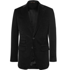 Thom Sweeney Black Scabal Slim-Fit Cotton-Corduroy Blazer