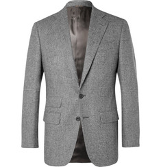 Thom Sweeney Grey Slim-Fit Prince of Wales Checked Wool Suit Jacket