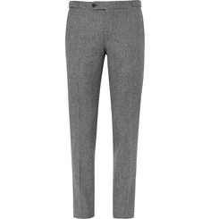 Thom Sweeney Grey Slim-Fit Prince of Wales Checked Wool Suit Trousers