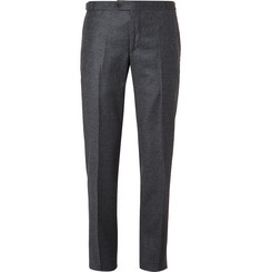 Thom Sweeney Blue Slim-Fit Puppytooth Wool and Cashmere-Blend Suit Trousers