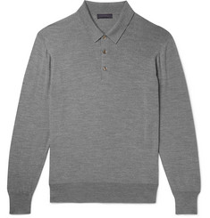 Thom Sweeney Mélange Wool Polo Shirt