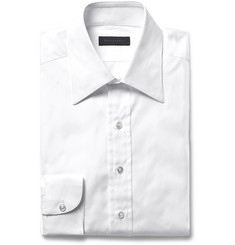 Thom Sweeney Slim-Fit Cotton-Poplin Shirt