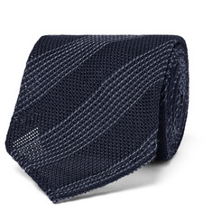 Thom Sweeney 8cm Striped Silk and Wool-Blend Tie