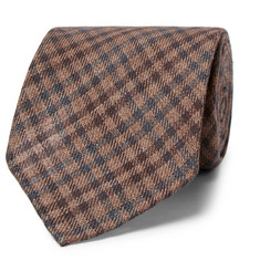 Thom Sweeney 8cm Checked Wool and Silk-Blend Tie