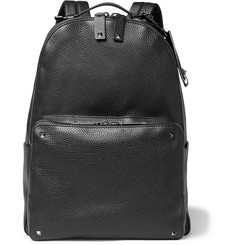 Valentino Studded Full-Grain Leather Backpack