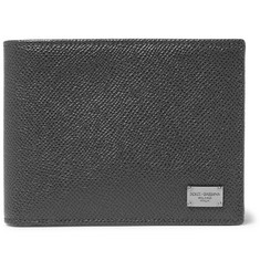 Dolce & Gabbana Pebble-Grain Leather Billfold Wallet