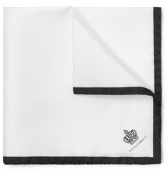 Dolce & Gabbana Printed Silk Pocket Square