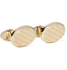 Dunhill - Engraved Gold-Tone Cufflinks