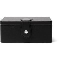 Dunhill Boston Full-Grain Leather Watch and Cufflink Box