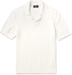 Dunhill Contrast-Tipped Cotton-Piqué Polo Shirt
