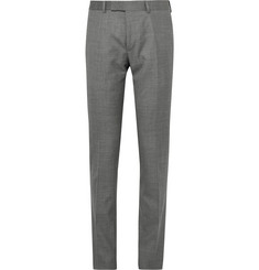 Dunhill Slim-Fit Wool, Mulberry Silk and Linen-Blend Trousers