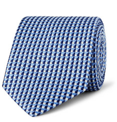 Dunhill 7.5cm Mulberry Silk-Jacquard Tie