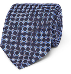 Dunhill 8cm Mulberry Silk-Jacquard Tie
