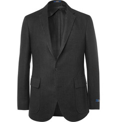 Polo Ralph Lauren Black Morgan Textured-Linen Blazer