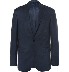 Polo Ralph Lauren Blue Slim-Fit Tick-Weave Wool and Silk-Blend Blazer