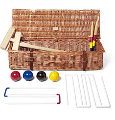 GW Scott - Croquet Set with Wicker Hamper