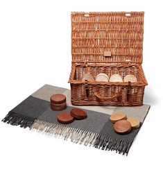 GW Scott - Draughts Set with Wicker Hamper