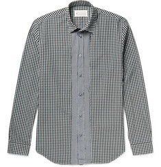 Maison Margiela Slim-Fit Button-Down Collar Gingham Cotton Shirt