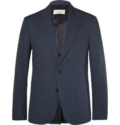 Maison Margiela Blue Slim-Fit Cotton-Twill Suit Jacket