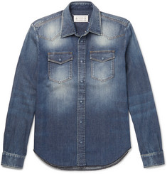 Maison Margiela Slim-Fit Washed-Denim Shirt