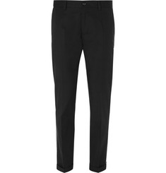 Dolce & Gabbana Slim-Fit Piped Stretch-Cotton Trousers