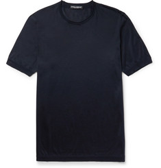 Dolce & Gabbana Slim-Fit Silk T-Shirt