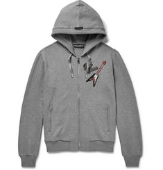 Dolce & Gabbana Appliquéd Cotton-Jersey Zip-Up Hoodie