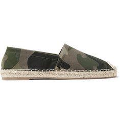 Valentino Camouflage-Print Canvas Espadrilles