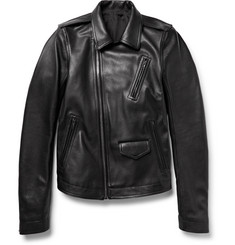 Rick Owens Stooges Full-Grain Leather Jacket