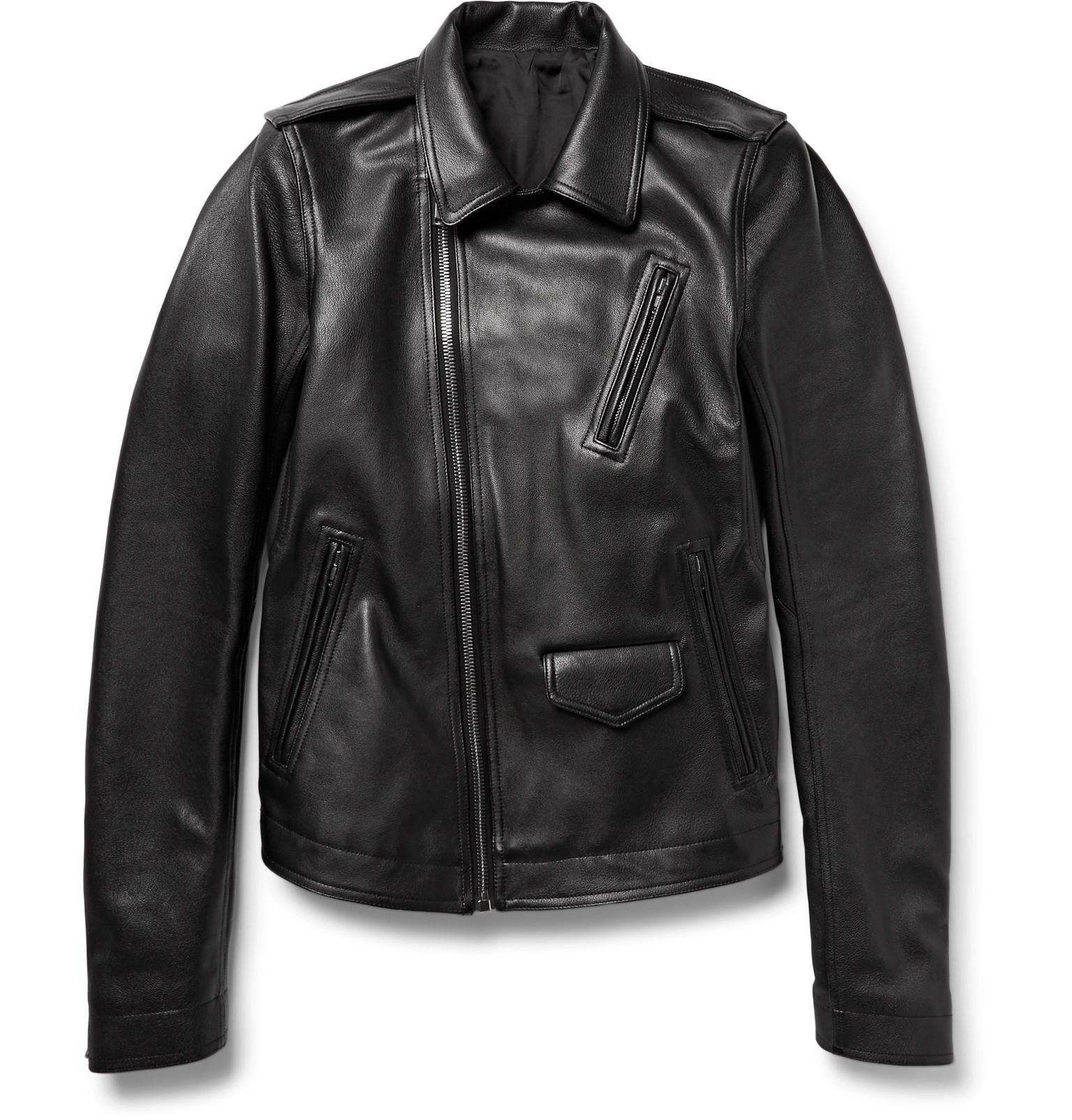 Leather jacket aesthetic - Rick Owens Stooges Full Grain Leather Jacket