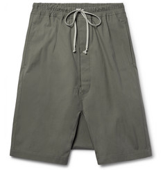 Rick Owens Pod Coated-Cotton Shorts