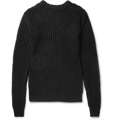 Rick Owens Biker Level Open-Knit Cotton Sweater