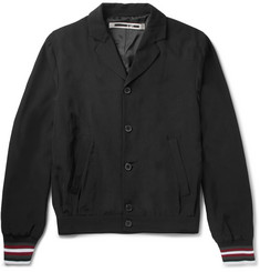 McQ Alexander McQueen Slim-Fit Stripe-Trimmed Satin-Shell Blouson Jacket