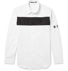 McQ Alexander McQueen Slim-Fit Colour-Block Cotton-Poplin Shirt