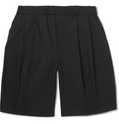 McQ Alexander McQueen Wide-Leg Pleated Woven Shorts